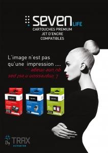 TRAX lance sa gamme de cartouches Jet d'encre SEVEN LIFE