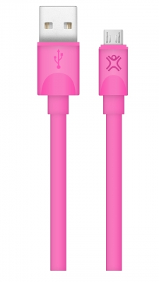 CABLE PLAT MICRO-USB CHARGE AND SYNC - 1M - ROSE |